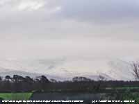 Snow on lower slopes of the Carneddau.