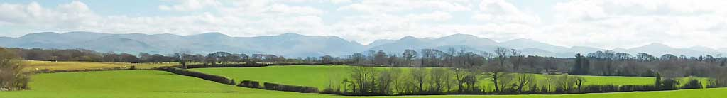 View of Snowdonia from Llansadwrn.
